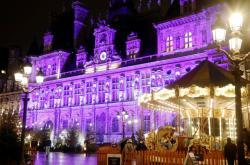 Vánoční výzdoba pařížské radnice