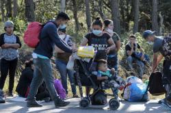 Honduraští migranti na cestě do Spojených států
