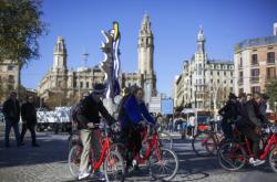 Cyklisté v Barceloně