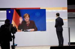 Angela Merkelová na on-line sjezdu CDU
