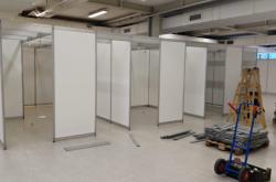 Budování očkovacího centra v Ostravě