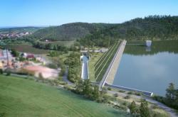 Vizualizace přehrady Kryry