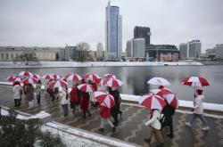 Opoziční protest v Minsku