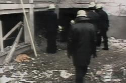 Místo výbuchu u budovy Svobodné Evropy