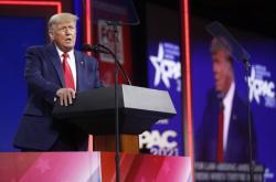 Donald Trump při projevu CPAC