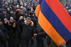 Opoziční demonstrace v Jerevanu