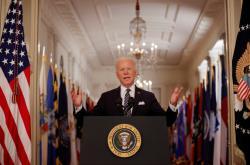 Joe Biden při prvním velkém projevu