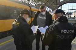 Kontrola na Hlavním nádraží v Praze