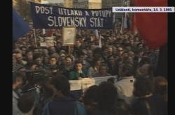 Protesty pří návštěvě Václava Havla v Bratislavě