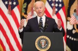 Prezident Biden při své první tiskové konferenci