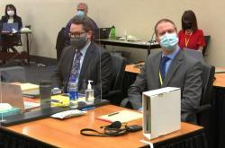 Derek Chauvin před soudem