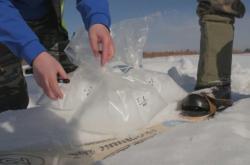 Sběr mikroplastů v sibiřském sněhu