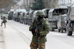 Ruský voják na okupovaném Krymu