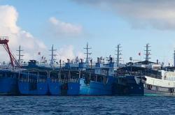 Čínské lodě u útesu Whitsun