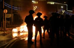 Snímek z nočních násilností v Jeruzalémě
