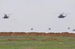 Ruské vojenské cvičení na okupovaném Krymu