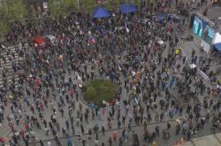 Účastníci demonstrace na Václavském náměstí