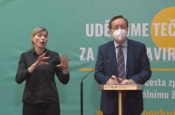 Ministr zdravotnictví Petr Arenberger na tiskové konferenci