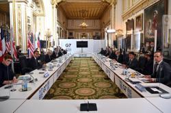 Ministři zahraničí zemí G7 v Londýně