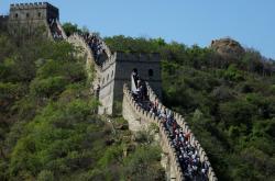 Čínští turisté na Velké zdi