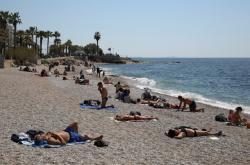 Pláž u Atén
