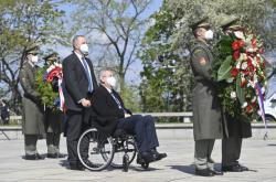 Prezident Miloš Zeman během piety na Vítkově