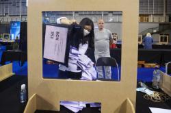 Počítání hlasů v Glasgow ve skotských parlamentních volbách