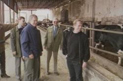 Václav Havel navštívil zemědělce