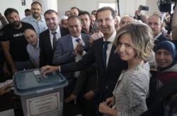 Bašár Asad odvolil v hlavním městě Sýrie Damašku