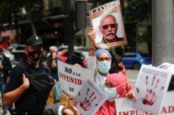 Protesty proti Ghálímu v Madridu