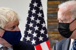Setkání britského premiéra Johnsona a amerického prezidenta Bidena před summitem G7