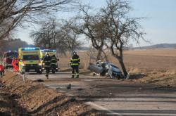 Nehoda u obce Kaliště