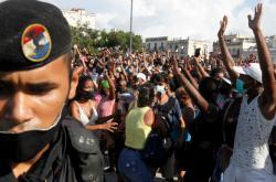 Nedělní protesty v Havaně