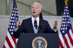 Joe Biden během projevu ve Filadelfii
