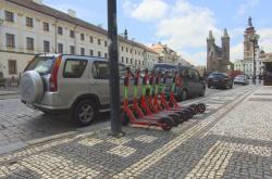 Sdílené elektrické koloběžky v Hradci Králové