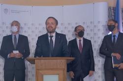 Brífink po jednání šéfů diplomacie Česka, Slovinska, Slovenska, Maďarska a Rakouska