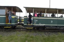 Historický vlak na osoblažské úzkokolejce