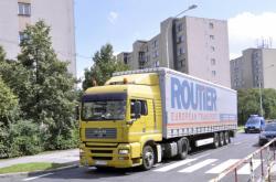 Kamion v Praze