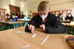 Testování na koronavirus v ZŠ Josefská ulice