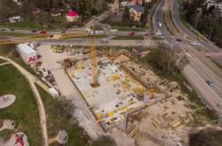 Stavba retenční nádrže v Plzni