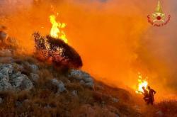 Požár v italské Puglii
