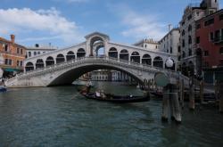 Nově zrekonstruovaný most Rialto