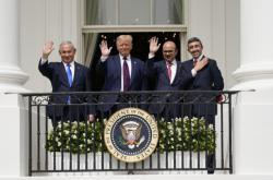 Podpis mírových dohod v Bílém domě
