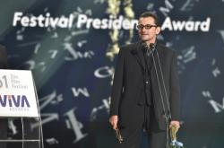 Ondřej Vetchý na závěrečném galavečeru zlínského filmového festivalu