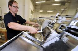 Pracovník v tiskárně