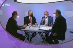 Ivan Pilný, Věslav Michalik a Josef Středula v Otázkách Václava Moravce