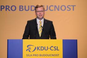 Pavěl Bělobrádek na sjezdu KDU-ČSL