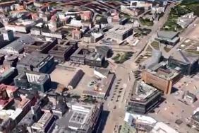 Virtuální 3D model Helsinek