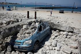 Řecký ostrov Kos po zemětřesení