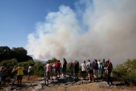 Požár na jihovýchodě Francie